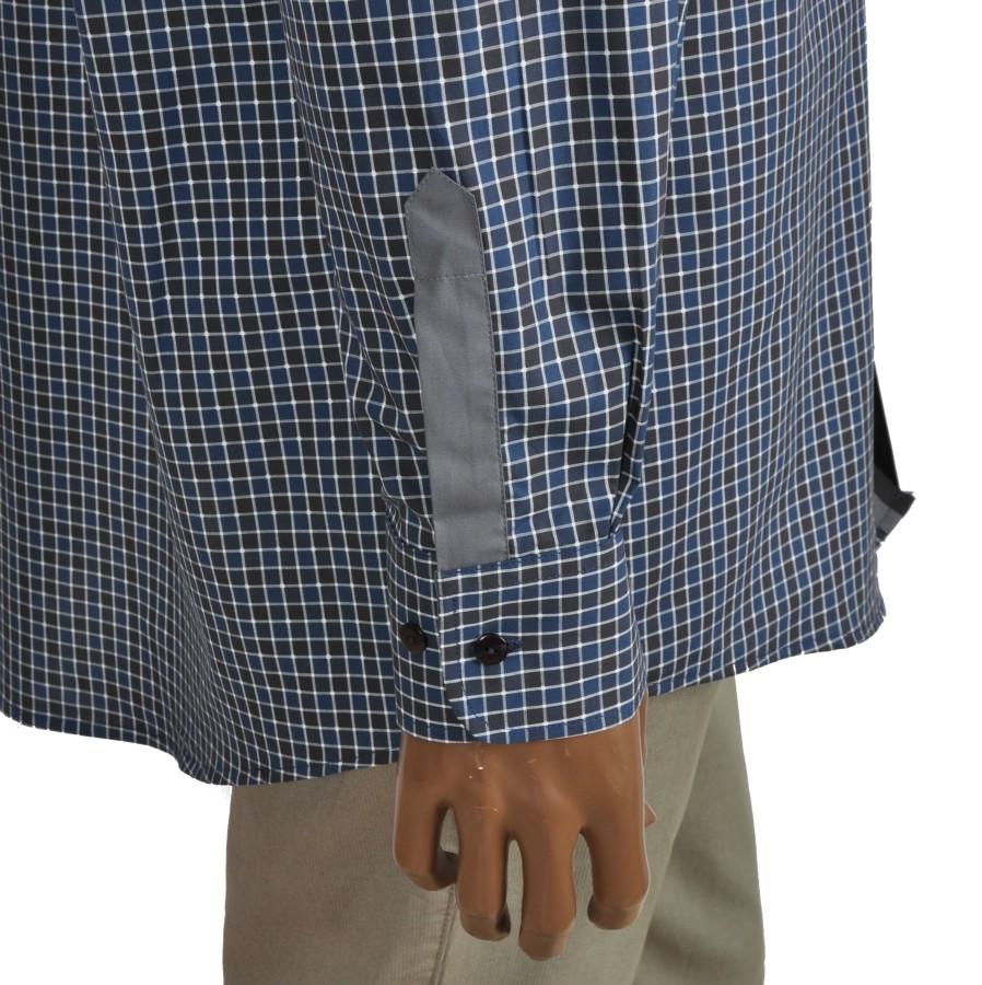 Medvilniniai vyriški marškiniai RAINBOW  žalios ir mėlynos spalvos langeliais