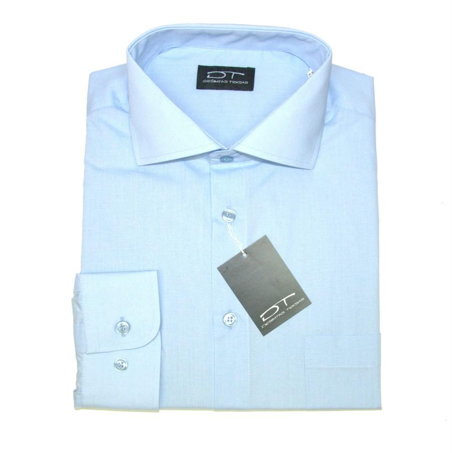Melsvi  vyriški marškiniai ilgomis rankovėmis 1274