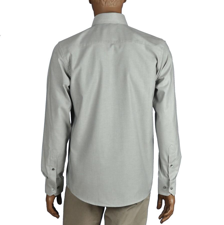 Gray classic fit dress shirt OXFORD
