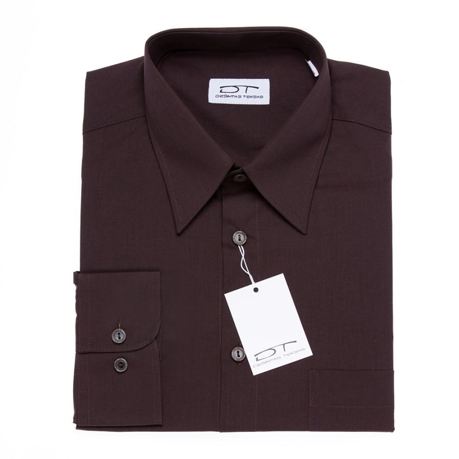 Brown dress shirt SEAL BROWN