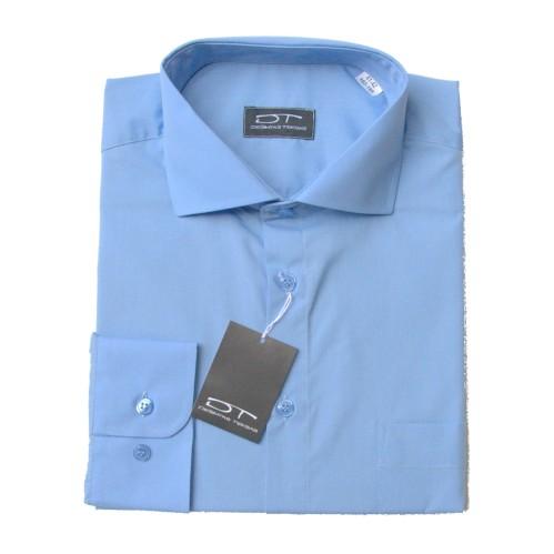 Melsvi  marškiniai ilgomis rankovėmis 2 MD BLUE