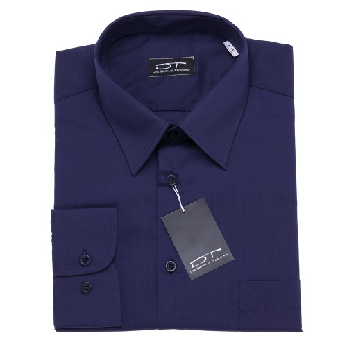 Tamsiai mėlyni marškiniai ilgomis rankovėmis 1853
