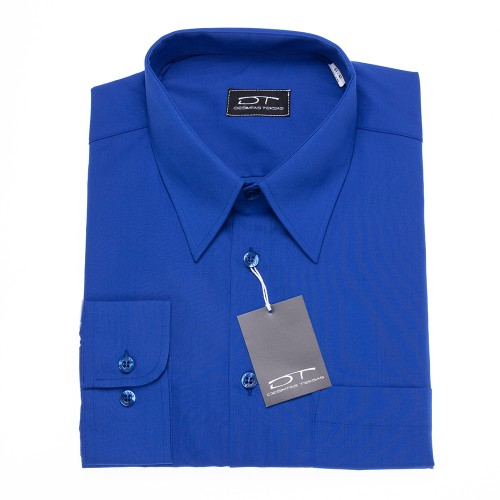 Karališkos mėlynos spalvos vyriški marškiniai ilgomis rankovėmis ROYAL BLUE