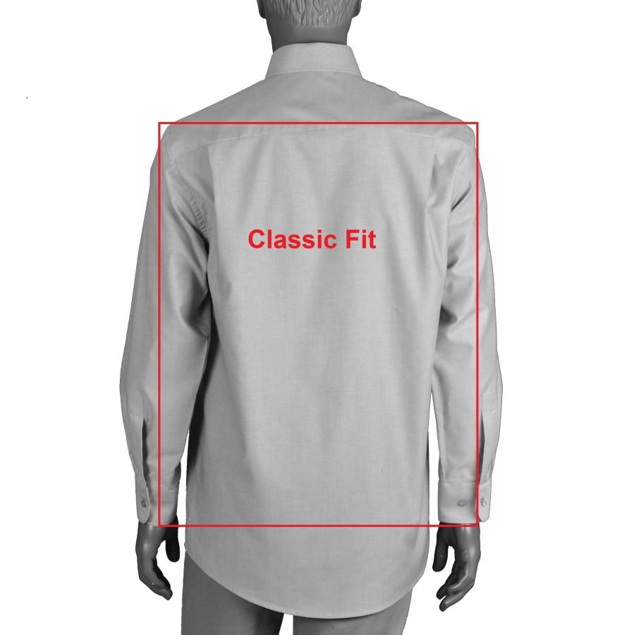 Gray classic fit dress shirt 18