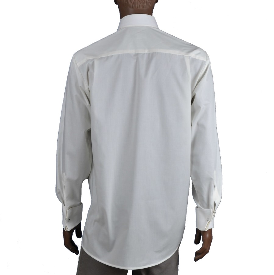 Off white/ivory dress shirt marshmallow with cuffs