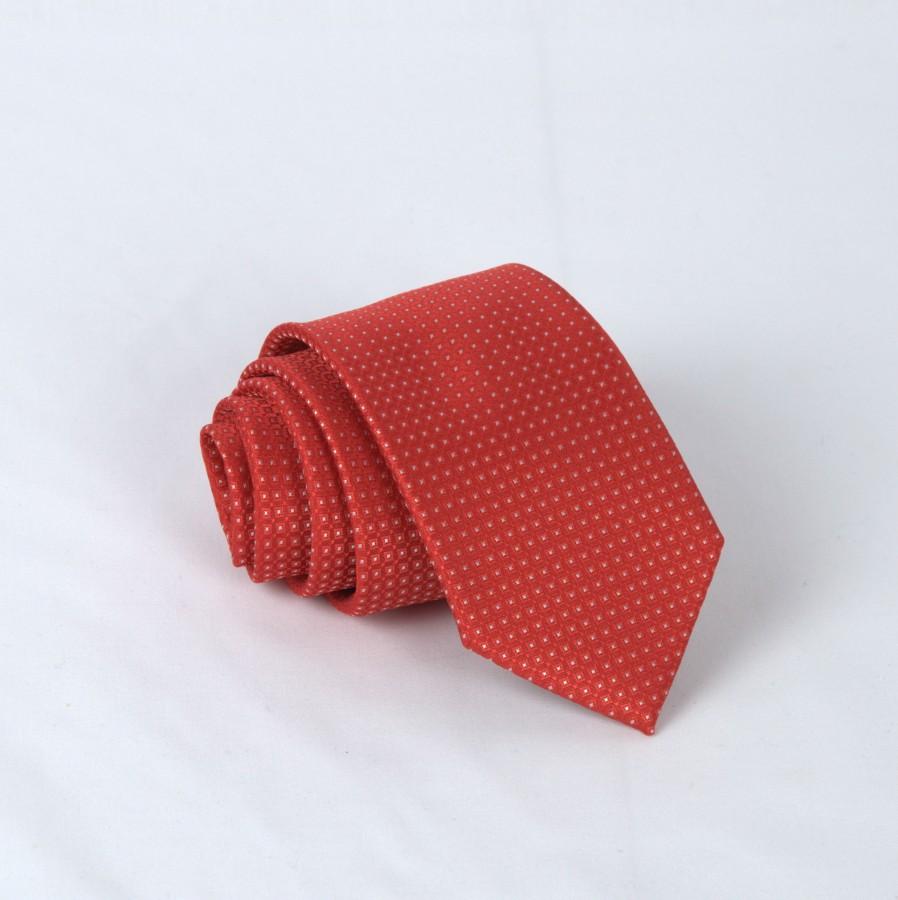 """Vyriškas kaklaraištis """"Raudoni langučiai""""  R04"""