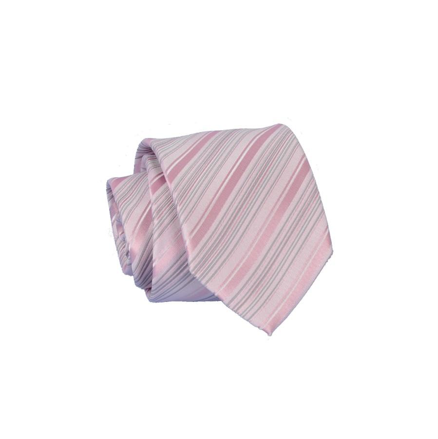"""Vyriškas kaklaraištis """"Rausvi dryžiukai"""" K01"""