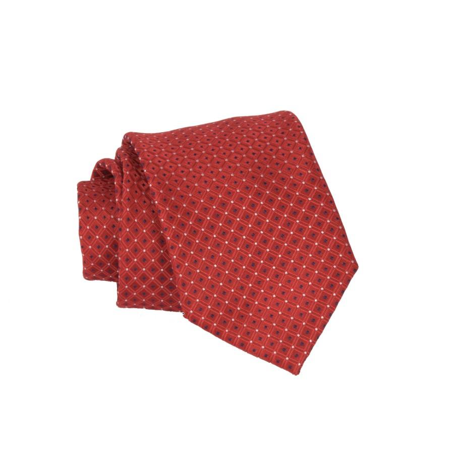"""Vyriškas kaklaraištis """"Raudoni langučiai"""" R03"""