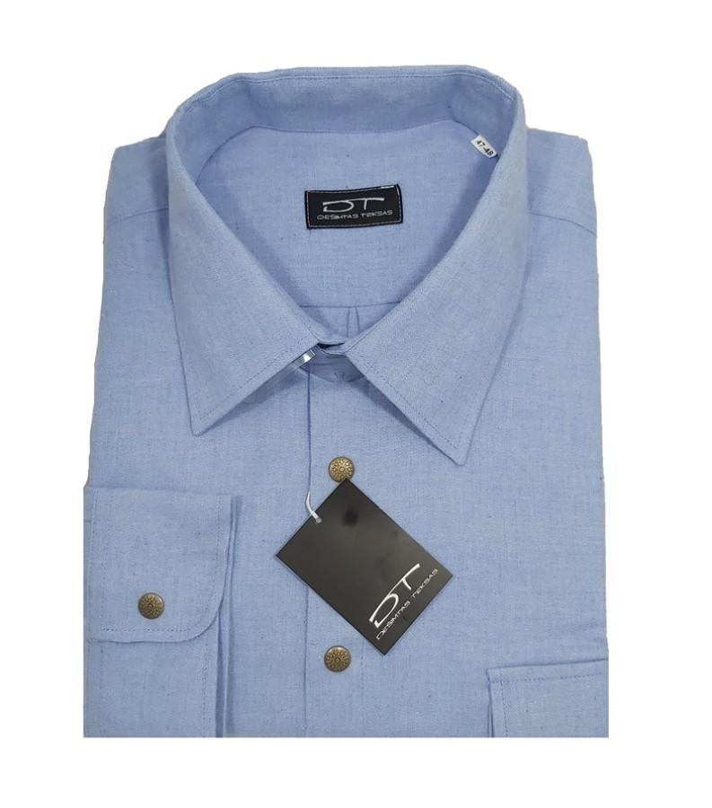Šviesiai melsvos spalvos vyriški marškiniai Montana Nr.90