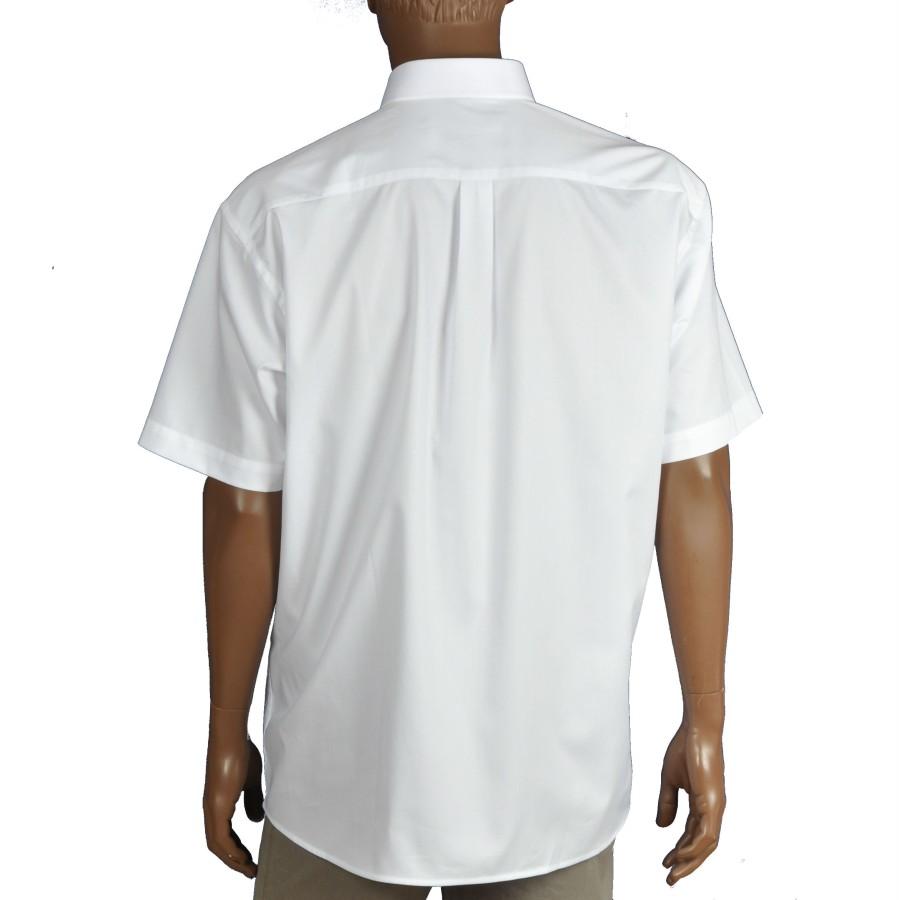 Balti klasikiniai vyriški marškiniai trumpomis rankovėmis PIKET 01
