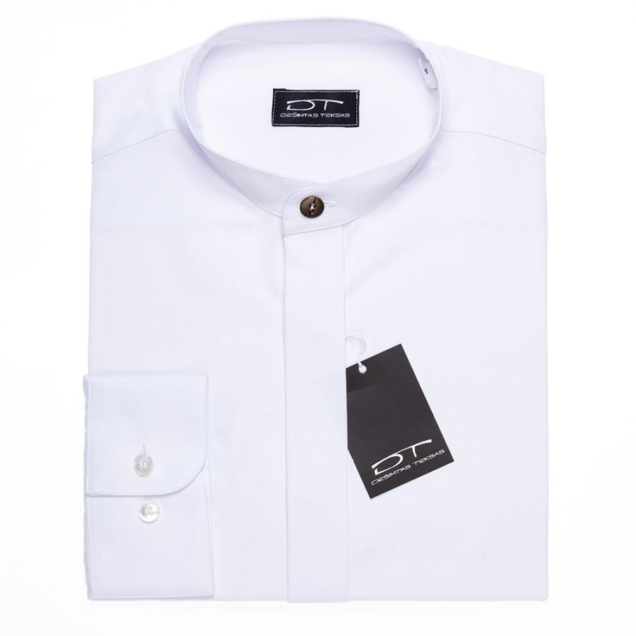 White dress shirt with mandarin collar
